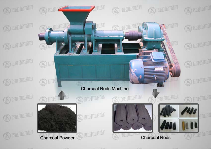 charcoal-rods-machine