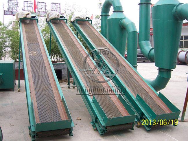 Charcoal conveyor belt